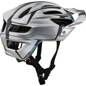 Troy Lee Designs A2 MIPS Helm sliver silver/burgundy